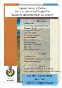 L'assessore Regionale al turismo Andrea Corsini a Busana, sabato 17 novembre ore 15.00