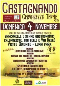 """""""Castagnando"""" festa della castagna a Cervarezza, domenica 4 novembre"""