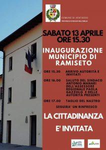 Inaugurazione municipio di Ramiseto