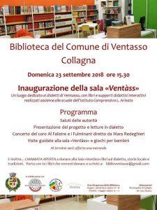 """Ventasso: a Collagna si inaugura la sala """"Ventàss"""" presso la biblioteca comunale"""