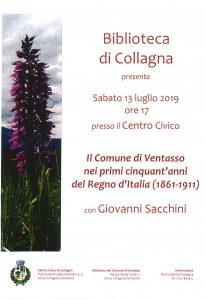 Collagna: il comune di Ventasso nei primi cinquant'anni di Regno d'Italia, con Giovanni Sacchini