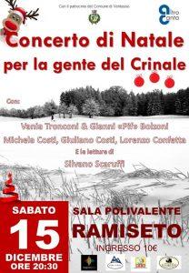 Concerto di Natale per la gente del crinale, Ramiseto sabato 15 dicembre ore 20.30